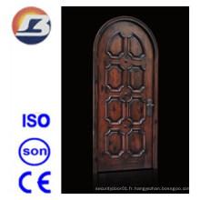 Intérieur extérieur élégant de haute qualité Meranti Porte en bois massif