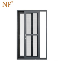 Marine horizontal  aluminum glass slat sliding door