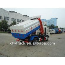 DFAC 5cbm camión de basura con la basura colgante
