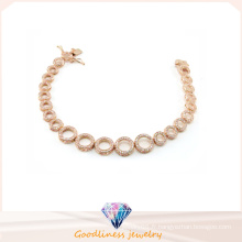 Vente en gros Bijoux Femme Mode AAA CZ 925 Bracelet Argent (BT6599)