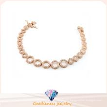 Wholesale Jewelry Woman′s Fashion AAA CZ 925 Silver Bracelet (BT6599)