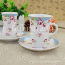 Tasse en céramique blanche émaillée en porcelaine fine