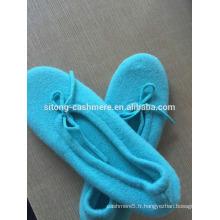 Chaussures de ballet en cachemire, pantoufles de cachemire