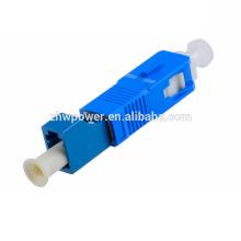 SC / UPC-LC / UPC Singlemode 9/125 adaptador de fibra óptica, baixa perda de inserção SC-LC adaptador de fibra