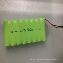Bateria Ni-MH 9.6V AA1500mAh recarregável