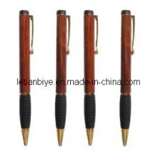 Подарок деревянная шариковая ручка с резиновым захватом (ЛТ-C199)