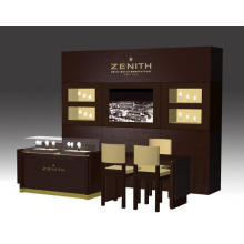 Роскошный дизайн магазина часы МДФ стеклянная мебель