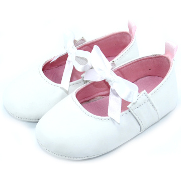Kasut Kulit Lace Bow Girl Infant Shoes Wholesale