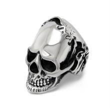 Дьявол череп кольцо раной на голове из нержавеющей стали готический панк