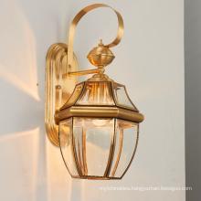 Modern Golden Luxury European Hotel Living Room Light Brass Glass Wall Lamp For Home Lighting Entrance Wall Sconces