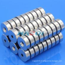 30X10mm NdFeB NIB Neo ndfeb anneau rond aimant à contre-courant