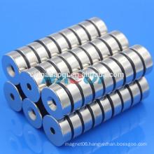30X10mm NdFeB NIB Neo ndfeb round ring countersunk magnet
