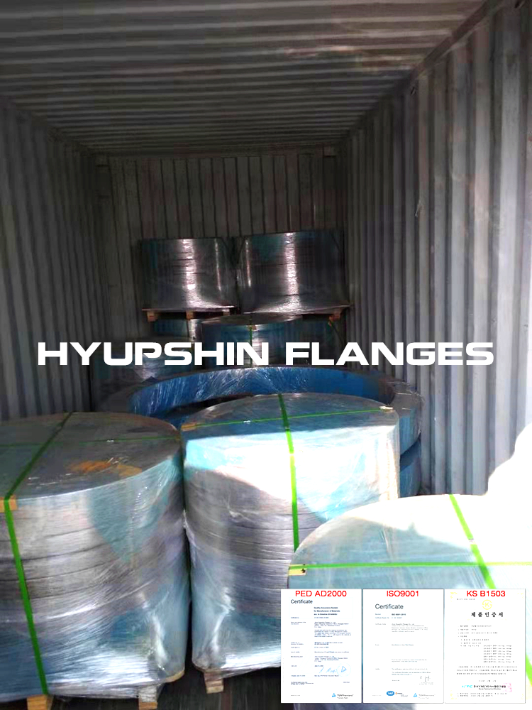 Hyupshin Flanges Shipment Transport Container