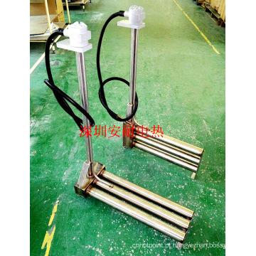 Elemento de aquecimento de titânio aquecedor à prova de corrosão industrial (Tg-102)