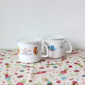 Best sale printed custom enamel mug for promotion gift