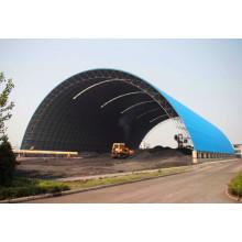 Структура каркаса пространственной решетки для хранилища угля с аркой крыши