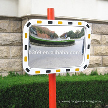 Heavy duty outdoor road traffic convex glass mirror