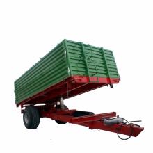 Mini walking galvanized farm tractor trailer