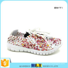 2016 Latest Ladies High Heel Woven Shoes
