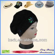 LSA60, 2014 New Promotion Poular black color hot sale winter hat