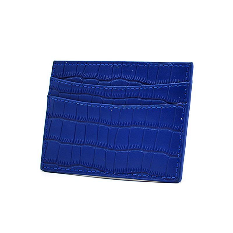 Crocodile Leather Business Credit Card Holder