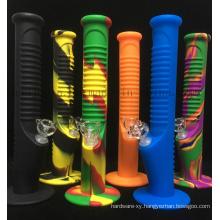 OEM Logo Print Silicone Luminous Smoking Pipe Shisha Hookah