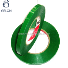 Battery materials Green strapping tape for strapping/fixing the battery core of pouch/cylinder cell, Green binding adhesive