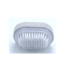 Customized Logo Small Size Foot Pumice Stone For Feet With Cleaning Brush