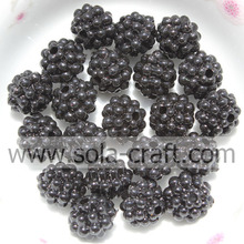 Perle placcate in acrilico colore nero Berry Shape 10MM