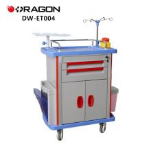DW-ET004 Medical medications emergency crash cart for medical offices