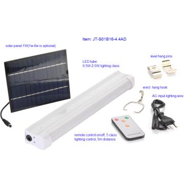 Sistema de luz LED para tubos de energía solar
