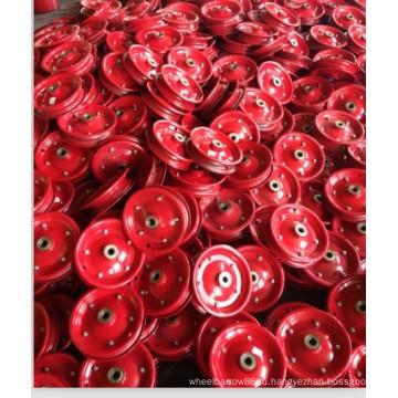 Стальной обод высокого качества красного цвета