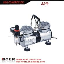 Compressor portátil do compressor de ar do cilindro gêmeo mini