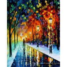 Street Landscape Knife Oil Painting