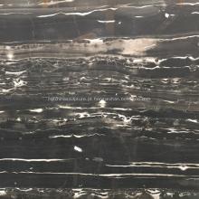Laje de mármore natural preto para parede e piso