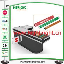 Diviseur de voie de caisse de sortie de caisse de PVC de supermarché avec le papier de la publicité