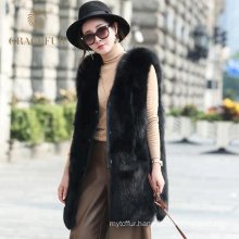 China supplier Online Shopping Cheap women real fox fur vest