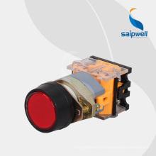 Bouton-poussoir de type autobloquant de haute qualité Saipwell / bouton-poussoir en forme de champignon avec lumière LAY50-22AA1