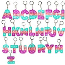 Amazon Hot Sale Cute Push Bubble Mini Popper Silicon Toy Pop Fidget Keychains Colorful Ornament