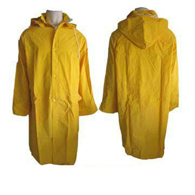 yellow raincoat wit drawstring