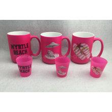 15oz Neon Farbe Becher, rosa Farbe Becher