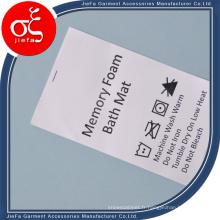 Impression non-tissée d'étiquette de soin de lavage fait sur commande de prix usine pour Mattess