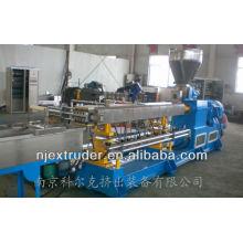 Machine de plastique à double vis à haute qualité extrudeuse de mélange / équipement de production de maquettes SHJ-75