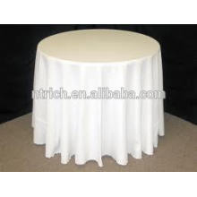 White polyester table cloth for wedding and banquet