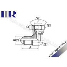 Metric Masculino / Metric Feminino 74 Graus Flared Tube Adapter (2Q9)