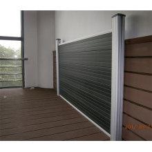 Aluminium WPC Gardeb Zaun, Innenarchitektur: 180 * 25mm