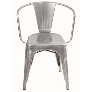 Tolix Chair Dining Metall gebürstet Verzinken mit Arm