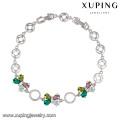 74341 professional simple bow bracelets rhodium colorful CZ bracelet