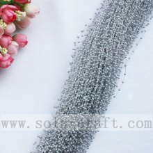 3MM Silver Artificial Faux Pearl String Beaded Garland