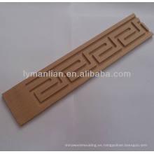 moldeado decorativo de la escultura de la sala de estar de madera sólida